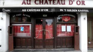 مطعم مقل في بروكسل عاصمة بلجيكا مع تشديد الإجراءات الصحية