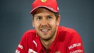 L'Allemand Sébastien Vettel, le 25 juillet 2019 à Hockenheim
