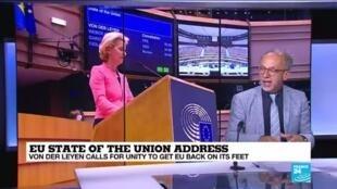 2020-09-16 17:01 EU's von der Leyen calls for unity to get Europe back on its feet