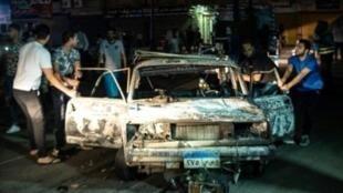 انفجار أمام المعهد القومي للأورام بوسط القاهرة. 4 أغسطس/آب 2019