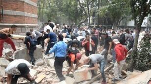 Certains bâtiments de Mexico ont subi de gros dégâts lors du séisme de magnitude 7,1, mardi 19 septembre 2017.