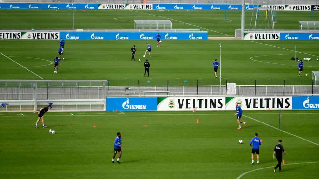 Los entrenamientos volvieron en Alemania a principios de abril... Actualmente se realizan en pequeños grupos.