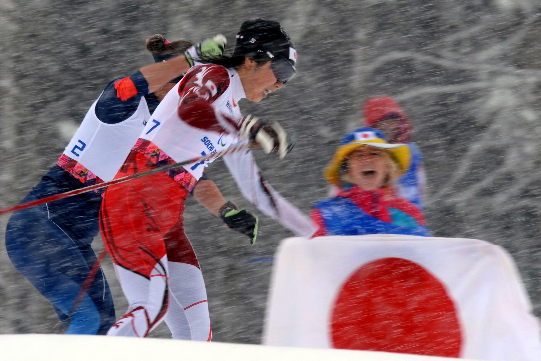 Shoko Ota lors des Jeux paralympiques de Sotchi, le 12 mars 2014.
