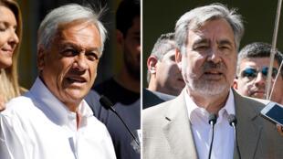 Sebastián Piñera y Alejandro Guillier irían a segunda vuelta el 17 de diciembre.