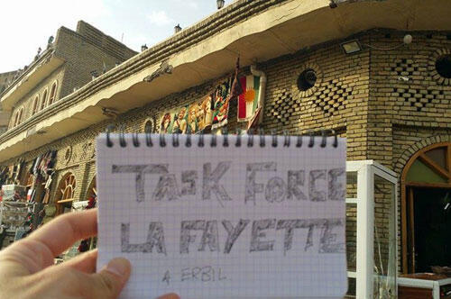 """Un combattant de la """"Task Force Lafayette"""" déjà sur place, au Kurdistan irakien"""