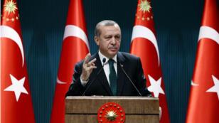Le président turc, Recep Tayyip Erdogan, a proposé de priver les partisans du PKK de leur nationalité, le 5 avril 2016/