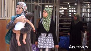 Femme palestinienne à un checkpoint israélien (illustration).