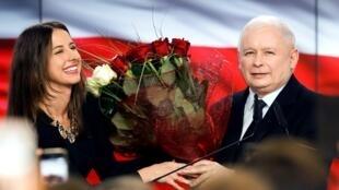 زعيم حزب القانون والعدالة ياروسلاف كاتشينسكي، بولندا، 13 أكتوبر/تشرين الأول 2019.