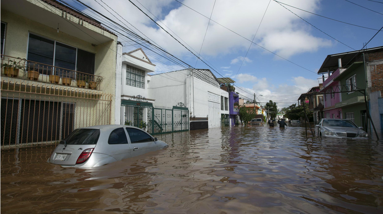 Vista general de las zonas afectadas por las tormentas provocadas por el el huracán Willa, el lunes 22 de octubre de 2018, en el estado de Michoacán, México.