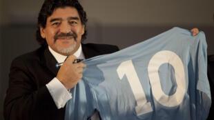 Diego Maradona à Naples 26 novembre 2013