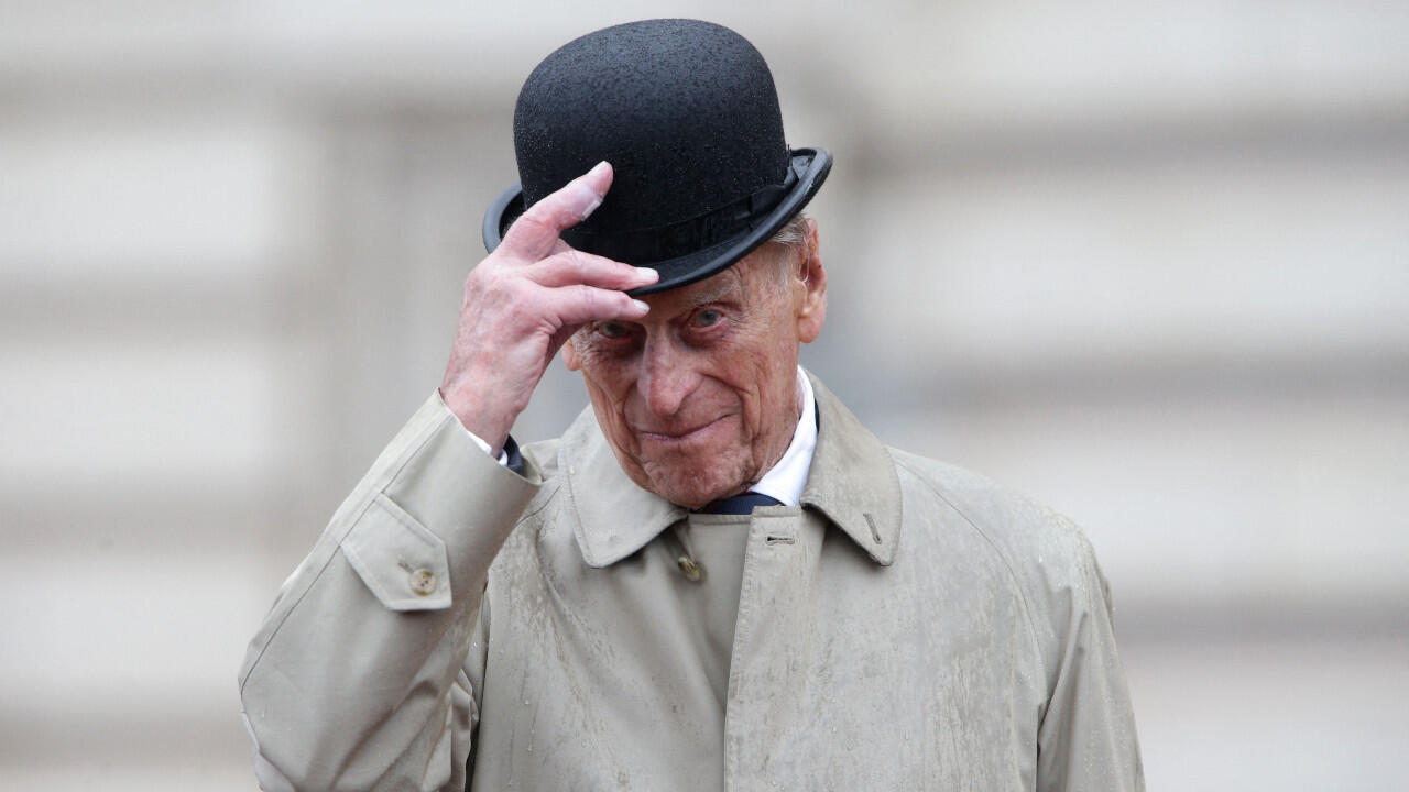 Britain's Prince Philip, Duke of Edinburgh, in his role as Captain General, Royal Marines, attends a Parade to mark the finale of the 1664 Global Challenge on the Buckingham Palace Forecourt in central London on August 2, 2017.