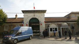 L'entrée du centre pénitentiaire de Fresnes.