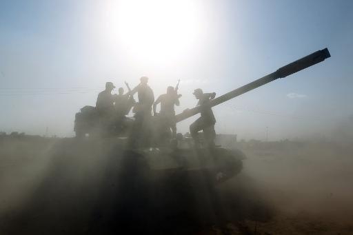 دبابة عراقية في محيط مدينة بيجي