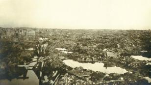 Le champ de bataille de Passchendaele en 1917.