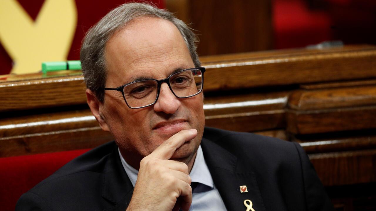 Le président indépendantiste catalan Quim Torra (archives).
