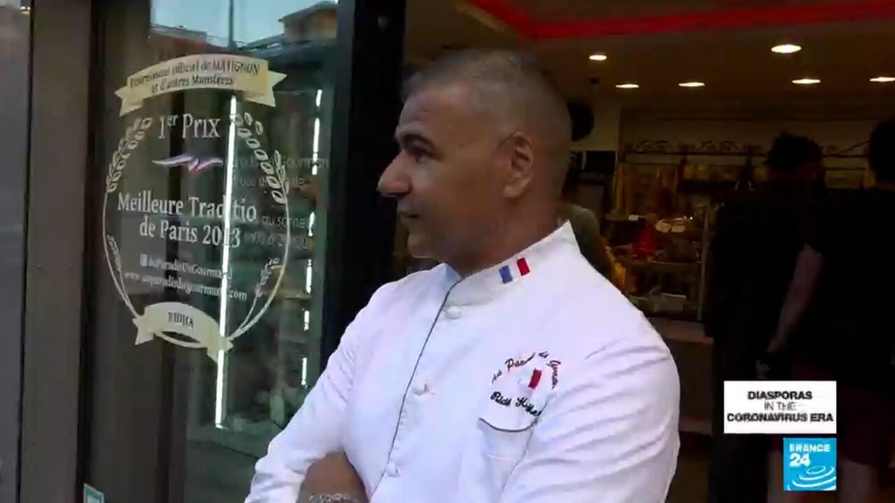 Award-winning baker Ridha Kader in Paris.