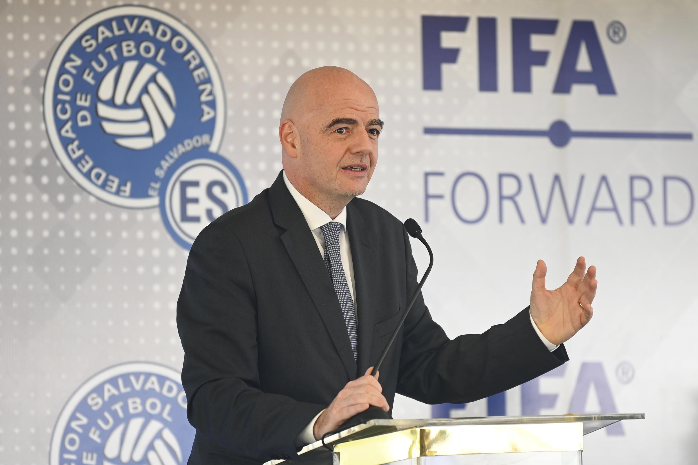 Le président de la Fifa, Gianni Infantino, à San Salvador, le 20 novembre 2019.