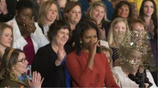Michelle Obama s'est montrée émue lors de son dernier discours en tant que Première dame, vendredi 6 janvier.