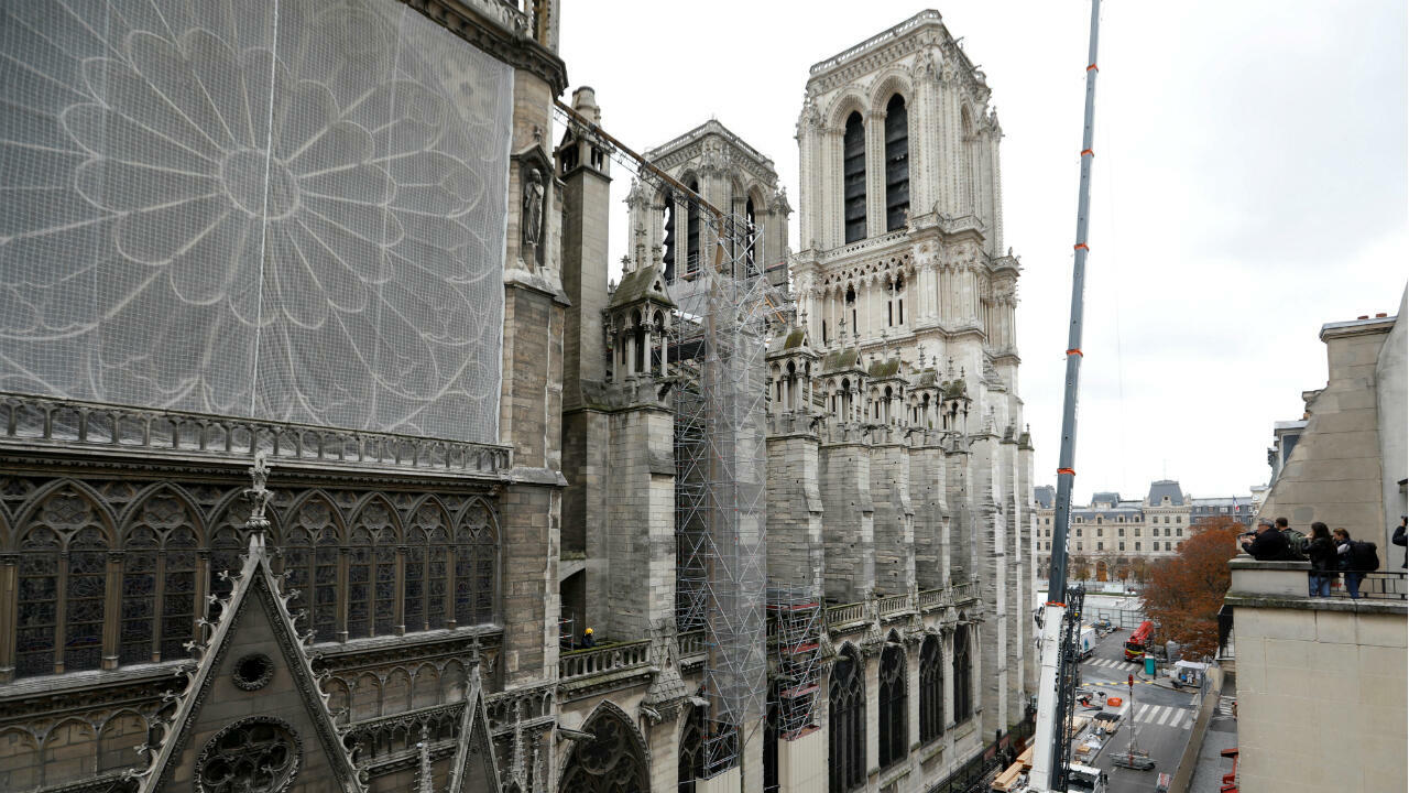 Work continues to stabilise the cathedral's structure