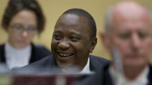 le président kényan Uhuru Kenyatta en audience à la CPI, le 8 octobre 2014.