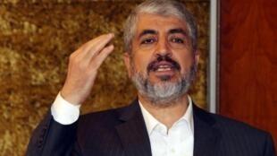 خالد مشعل رئيس المكتب السياسي لحركة حماس الفلسطينية