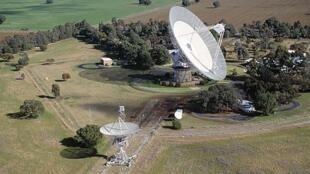 Le téléscope radio géant australien de CSIRO Parkes.