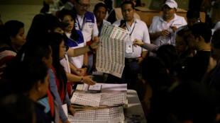 El TSE de El Salvador expresó en redes socuales un procesamiento del 70% de las actas