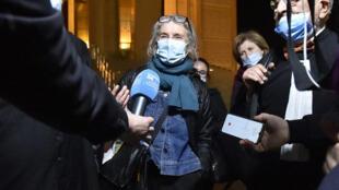 Françoise Grandclaude, la compagne d'Hervé Gourdel, a assisté au procès qui s'est tenu à Alger, le 18février2021.