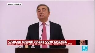"""2020-01-08 15:02 Carlos Ghosn press conference: """"I left Japan because I wanted justice"""""""