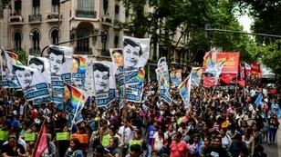 Protesters in Buenos Aires on January 10 vent their anger against President Mauricio Macri's government