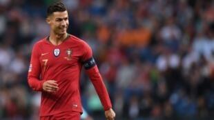 L'attaquant portugais Cristiano Ronaldo lors du match de Ligue des Nations face aux Pays Bas le 9 juin 2019