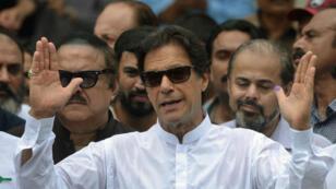 عمران خان في كراتشي في 19 آب/أغسطس 2019.