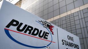 Le siège de l'entreprise pharmaceutique Purdue, à Stamford dans le Connecticut, le 2avril2019.