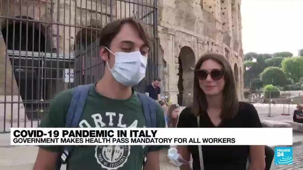 2021-09-17 08:14 'We need effective solutions': Italians react to Covid-19 'green pass' for all workers