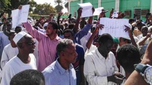 Des manifestants à Khartoum, le 25 janvier 2019.
