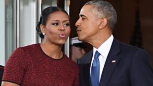 ميشال وباراك أوباما في 27 تشرين الأول/أكتوبر 2016