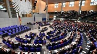 الجلسة الافتتاحية للبرلمان الألماني في 24 تشرين الأول/أكتوبر 2017