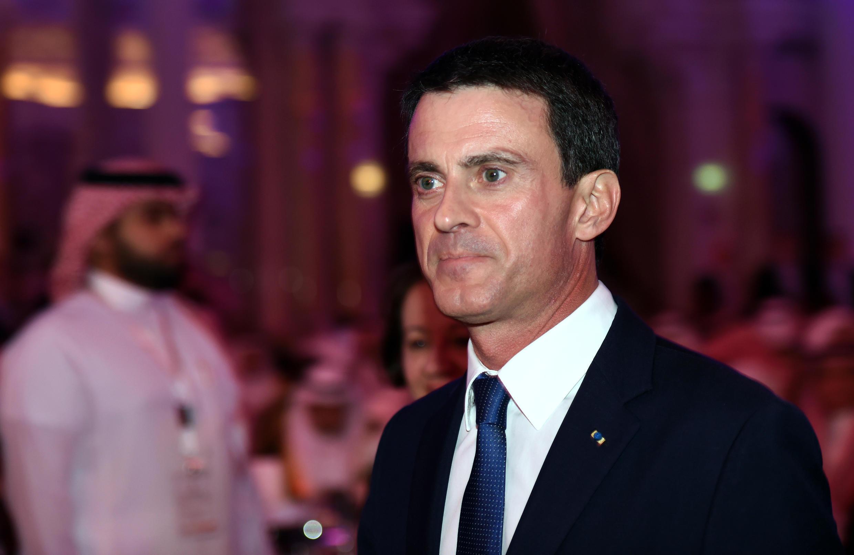 Le Premier ministre Manuel Valls au deuxième forum économique franco-saoudien à Riyad.