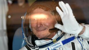 Le cosmonaute russe Guennadi Padalka, nouveau recordman du nombre de jours passés par un homme dans l'espace.