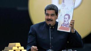 El presidente Nicolás Maduro durante una conferencia de prensa en Caracas. 22 de marzo de 2018.