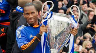 Didier Drogba, vainqueur de la Ligue des Champions avec Chelsea