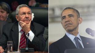 باراك أوباما وراوول كاسترو
