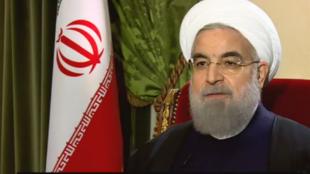 الرئيس الإيراني حسن روحاني في حوار مع فرانس24