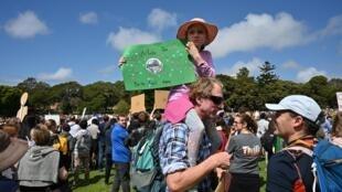 Manifestation pour le climat à Sydney le 20septembre2019.
