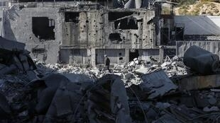 Les dégâts à Gaza après un raid israélien, le 26mars2019.