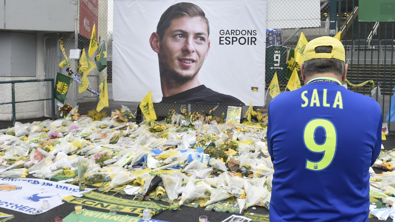 Hommage à Emiliano Sala à Nantes, le 5 février 2019.