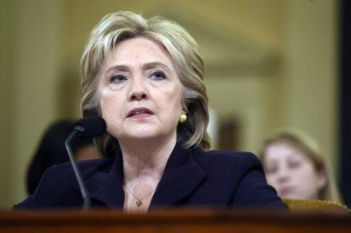 Hillary Clinton devant la commission d'enquête de la Chambre des représentants, le 22 octobre 2015.