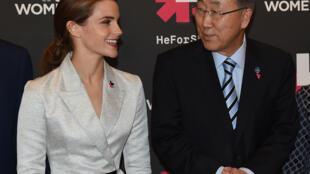 """Emma Watson, ambassadrice pour les droits des femmes à l'ONU, a donné un vibrant discours à l'occasion du lancement de la campagne """"HeForShe""""."""