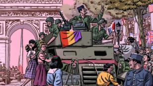 "La couverture de la bande dessinée ""La Nueve"" de Paco Roca"