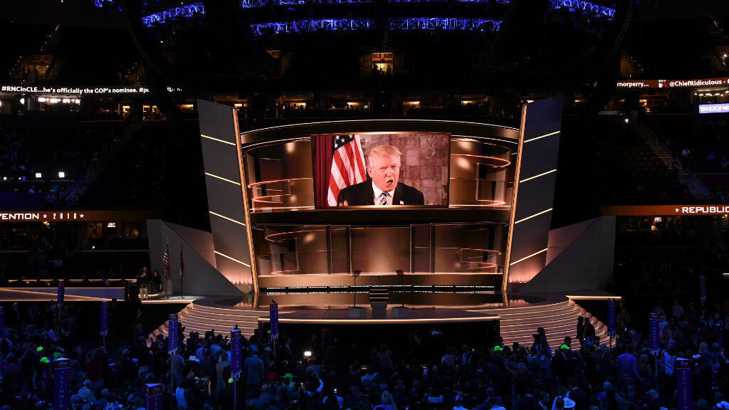 Trump a délivré un court message vidéo à l'occasion de la convention républicaine qui l'a désigné candidat à la présidentielle américaine, mardi 19 juillet.